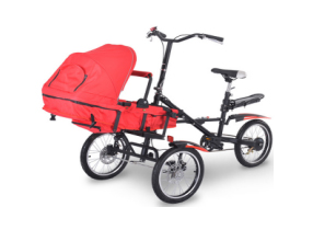 Folding Mother Baby Stroller Bike